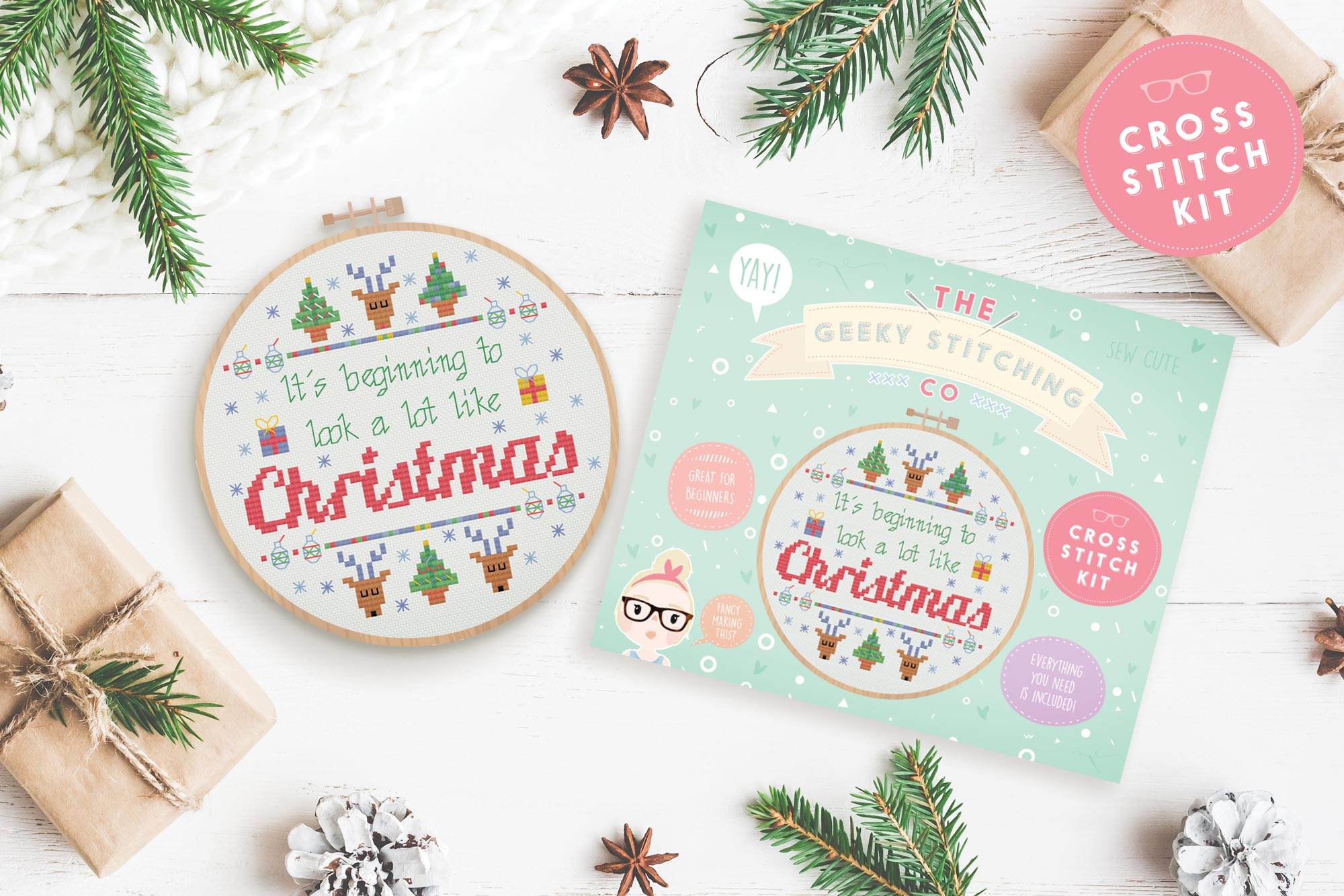 It\'s beginning to look a lot like Christmas \'Cross Stitch Kit\' - The ...