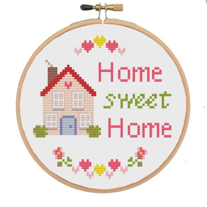 Home Sweet Home With House Cross Stitch Kit The Geeky Stitching Co