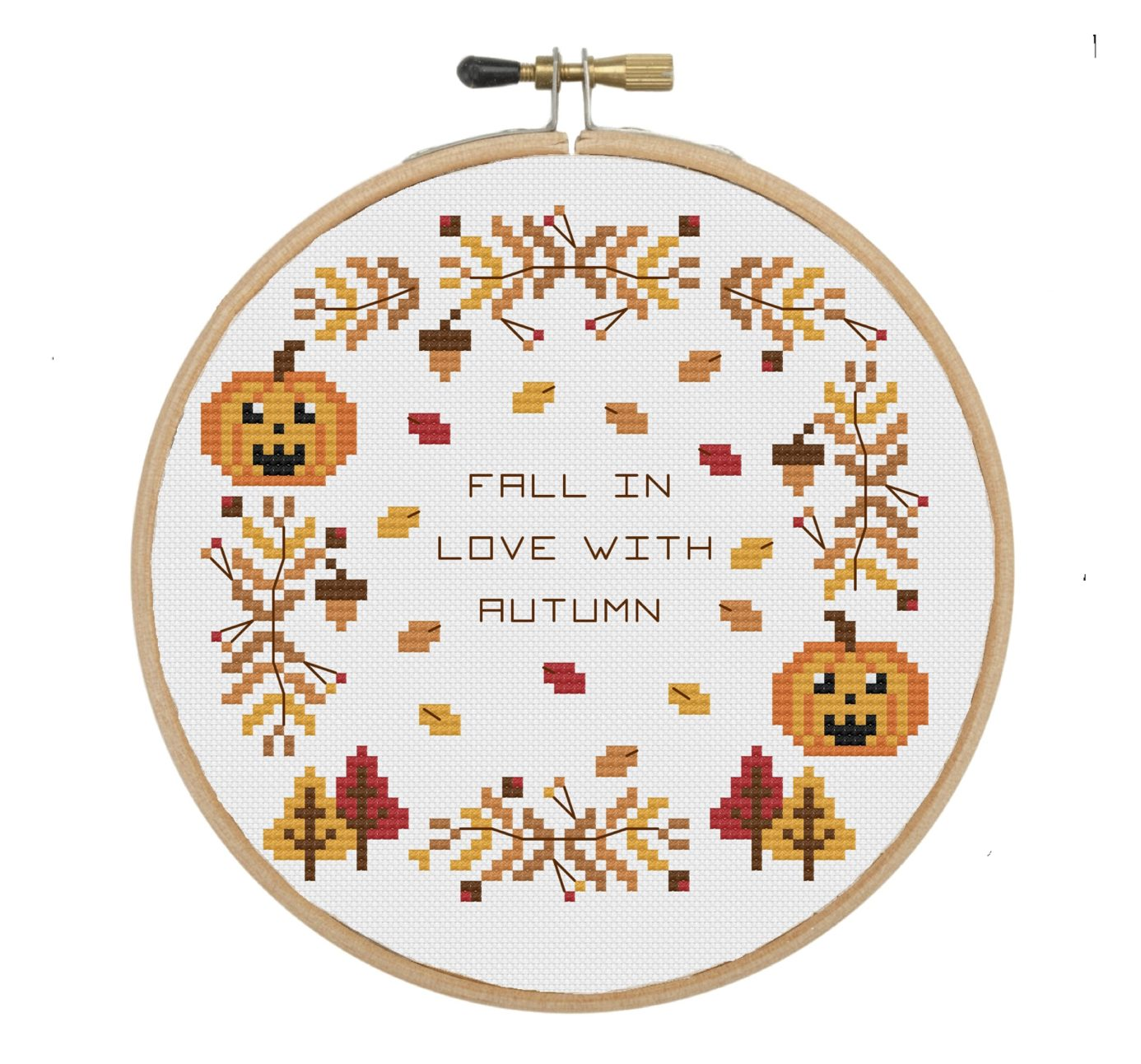Image result for fall cross stitch