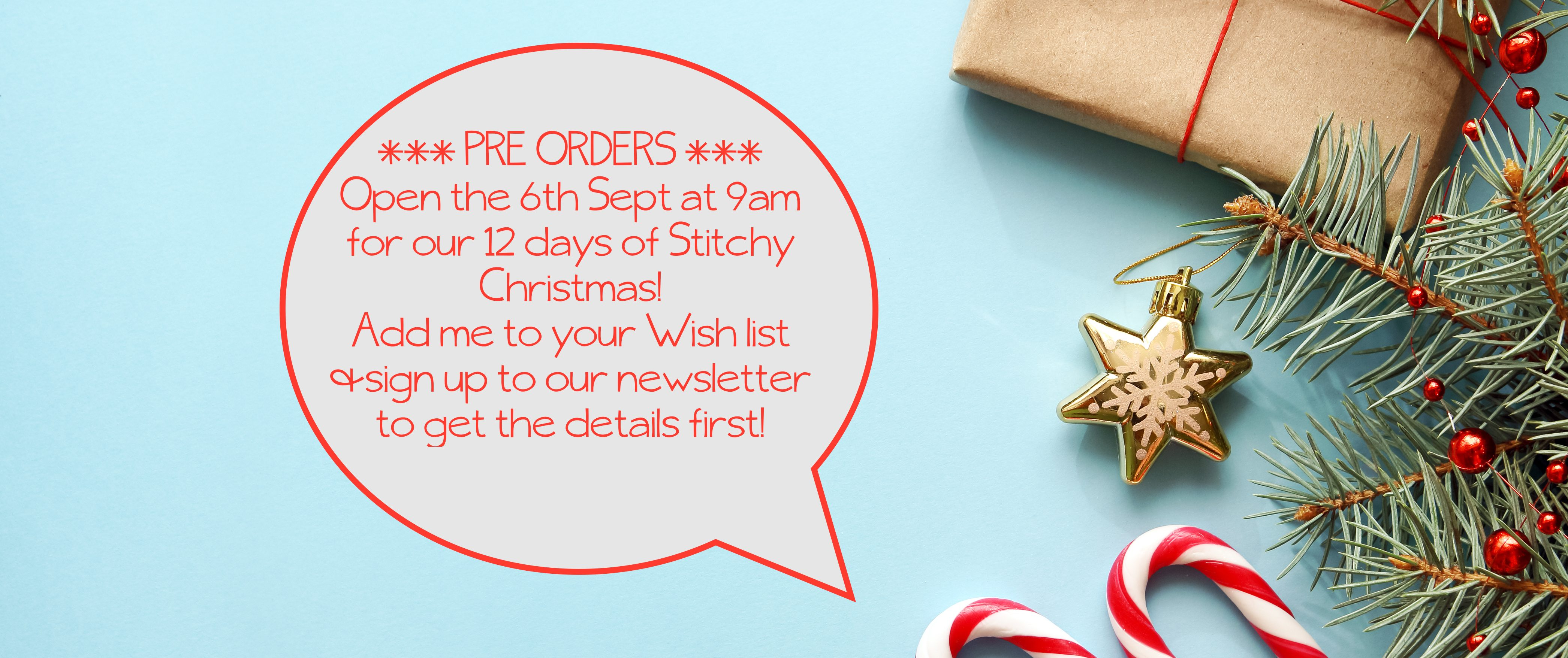 Open For Christmas Orders.12 Days Of Stitchy Christmas