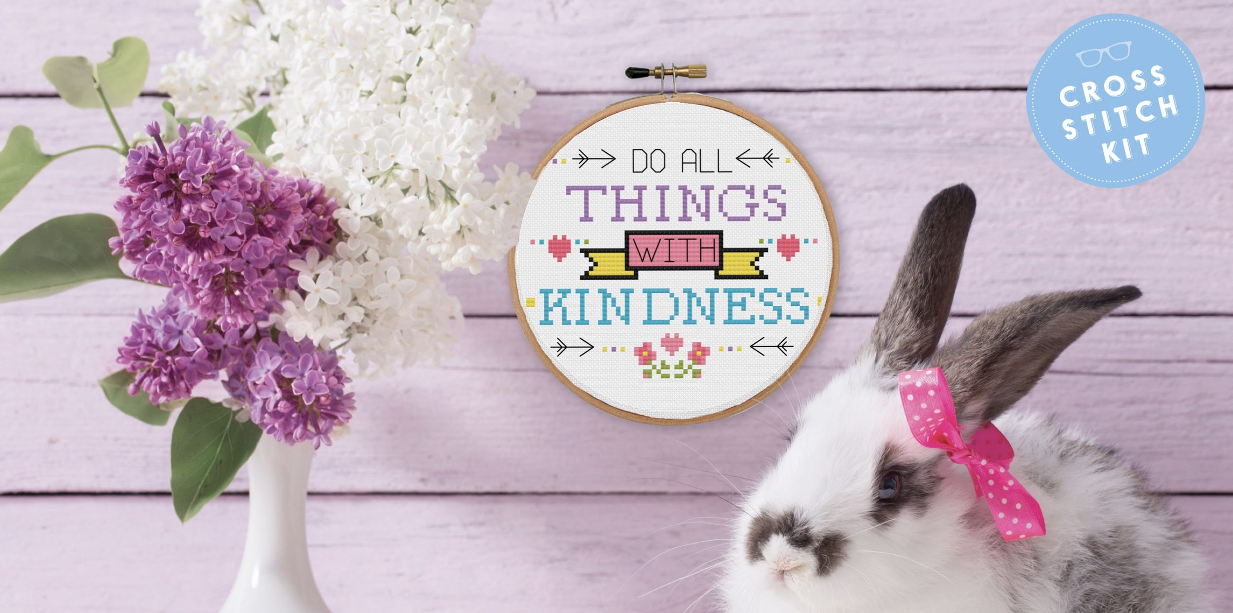 Do All Things With Kindness Cross Stitch Kit The Geeky Stitching Co